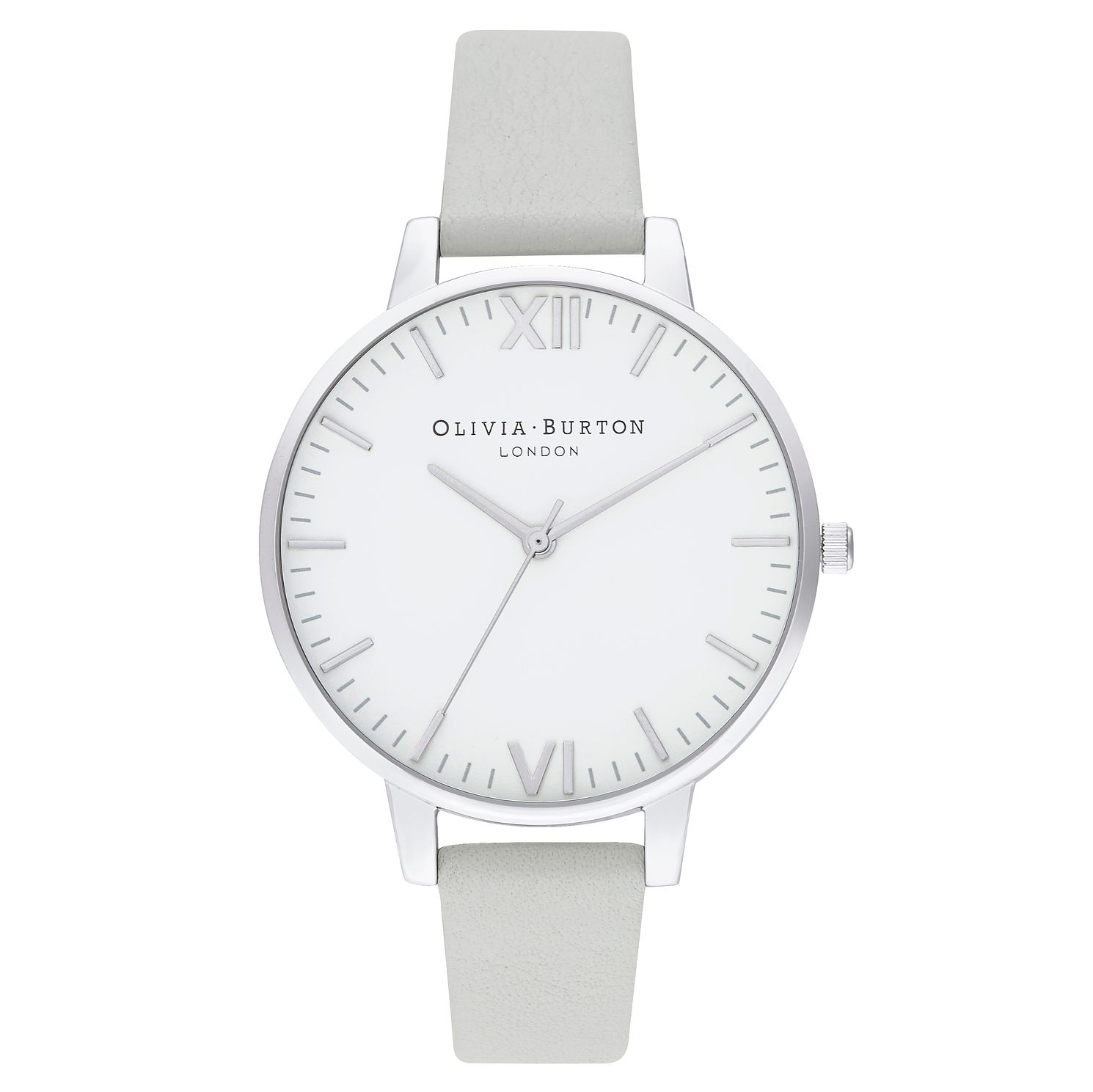 Olivia Burton Timeless Grey Leather Strap Watch - Product number 2970740