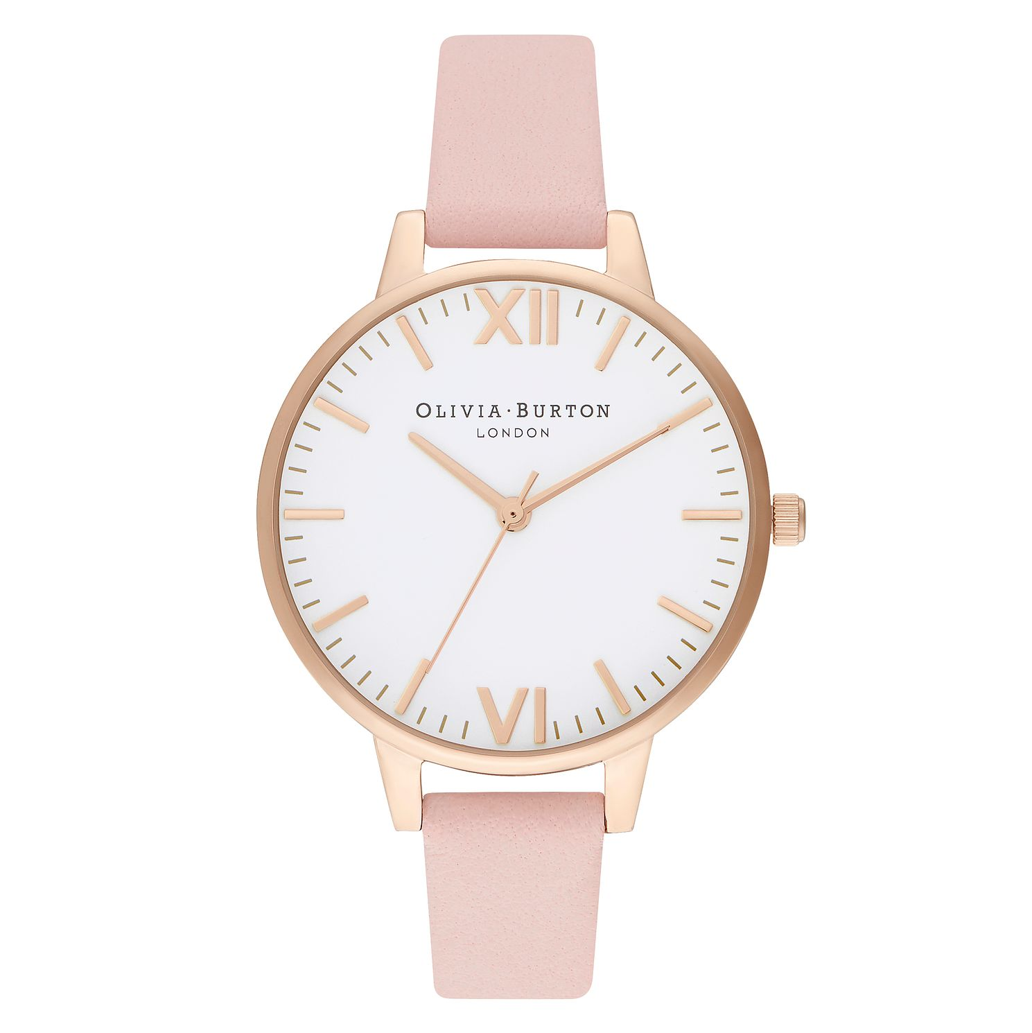 Olivia Burton Timeless Pink Leather Strap Watch - Product number 2970759