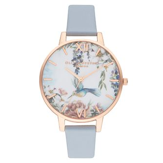 Olivia Burton Painterly Print Blue Vegan Leather Strap Watch - Product number 2970767
