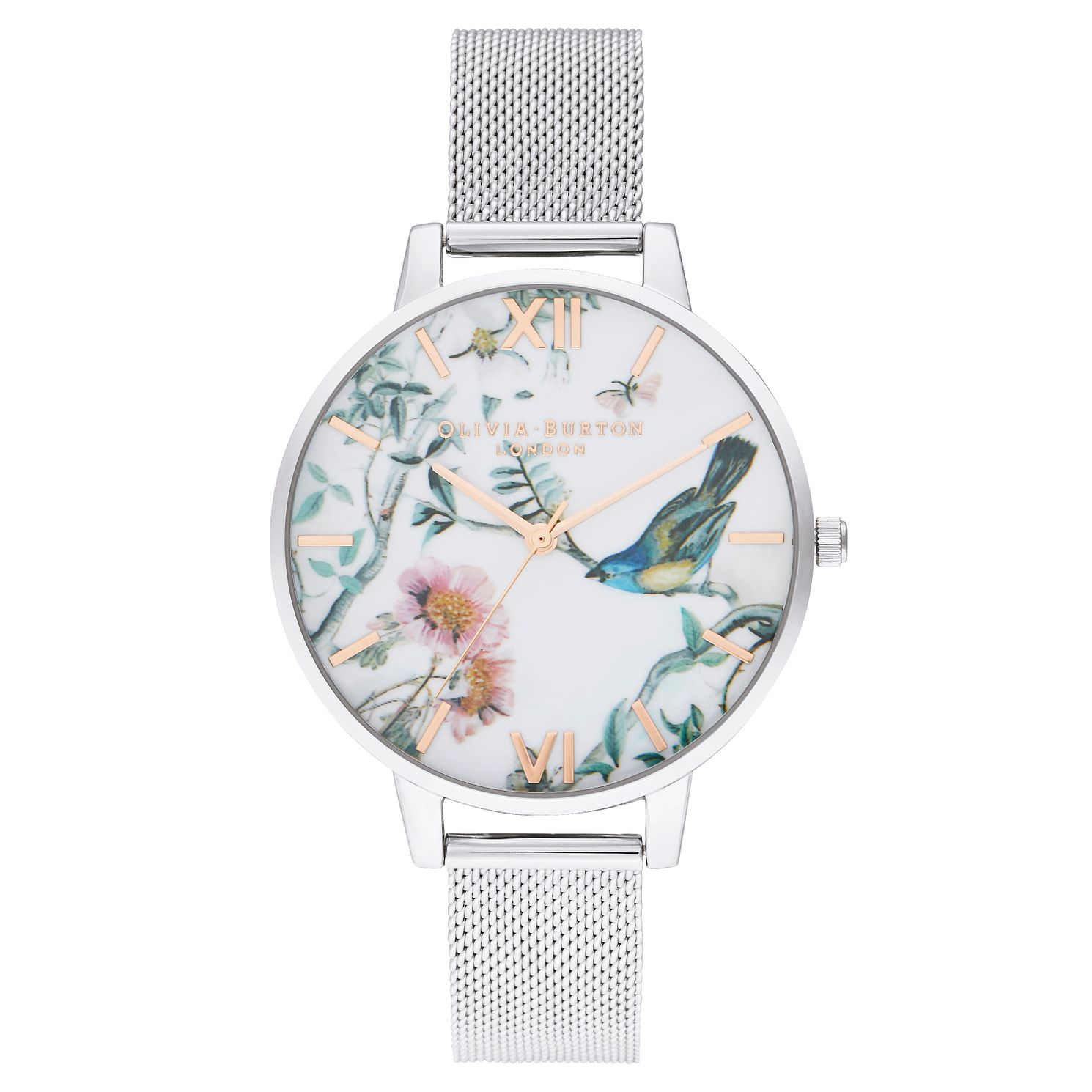 Olivia Burton Painterly Print Stainless Steel Bracelet Watch - Product number 2970775