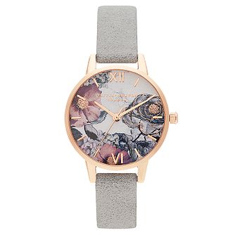 Olivia Burton Eco Friendly Grey Leather Strap Watch - Product number 2970783
