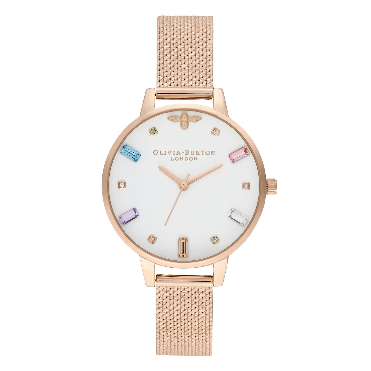 Olivia Burton Rainbow Bee Rose Gold Tone Bracelet Watch - Product number 2970805