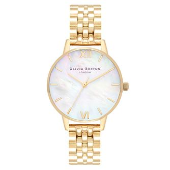 Olivia Burton Mother Of Pearl Gold Tone Bracelet Watch - Product number 2970902