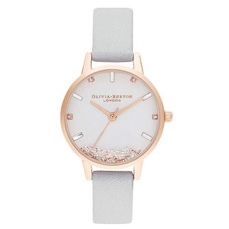Olivia Burton The Wishing Grey Leather Strap Watch - Product number 2972301