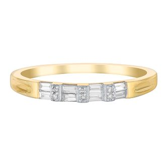 9ct Yellow Gold Baguette Cut Diamond Eternity Ring - Product number 2979411