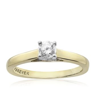 The Forever Diamond 9ct Gold 0.25ct Ring - Product number 2986639