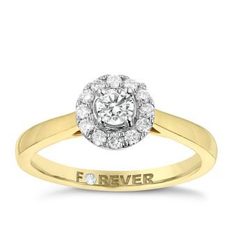 The Forever Diamond 18ct Gold 0.25ct Total Diamond Ring - Product number 2988496