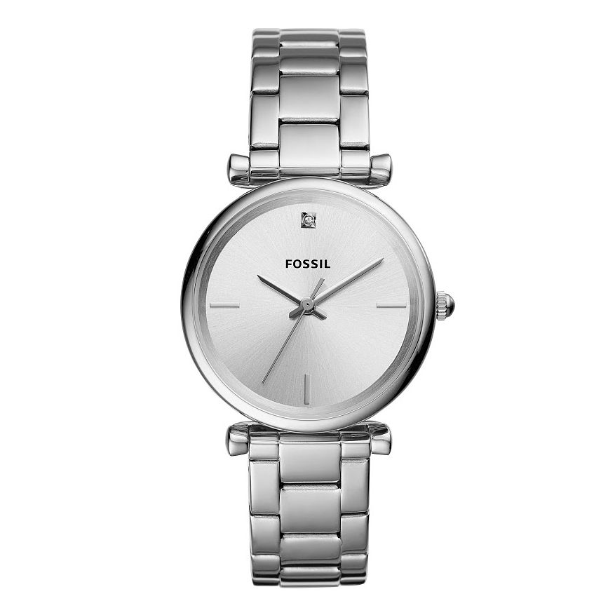 Fossil Carlie Ladies' Diamond Stainless Steel Bracelet Watch - Product number 2988534