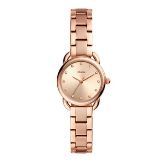 Fossil Ladies' Mini Rose Gold Plated Bracelet Watch - Product number 2988666