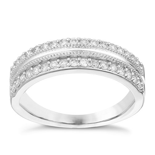 9ct White Gold 1/3 Carat Diamond Eternity Ring - Product number 2988887
