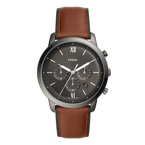 Fossil Men's Brown Leather Strap Chronograph Watch - Product number 2988895