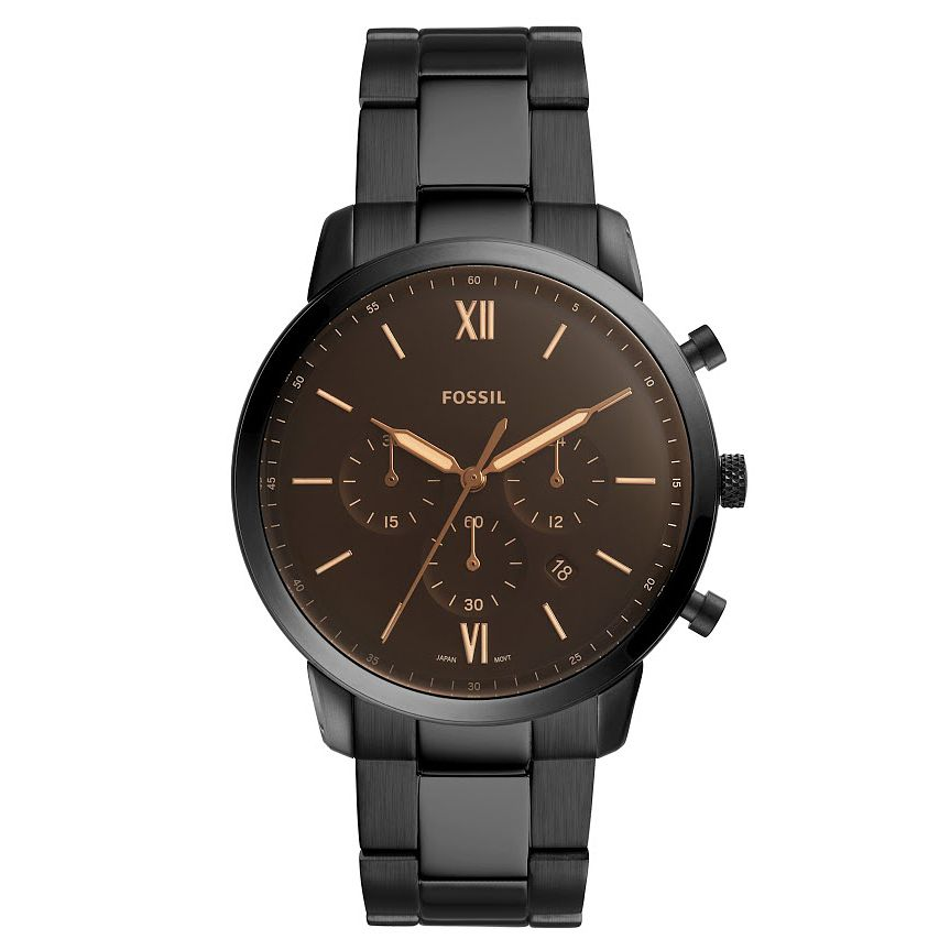 Fossil Neutra Men's Black Stainless Steel Bracelet Watch - Product number 2988992