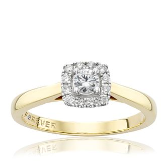The Forever Diamond 18ct Gold 0.25ct Total Diamond Ring - Product number 2989190