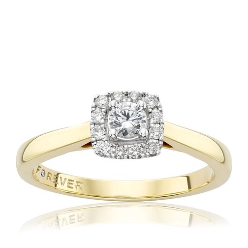 18ct Gold 1/4 Carat Forever Diamond Ring - Product number 2989190