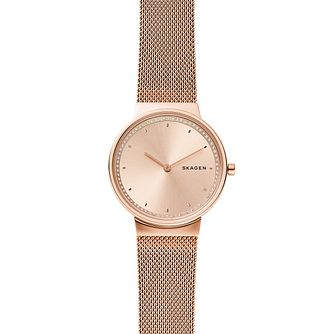 Skagen Annelie Ladies' Rose Gold Tone Mesh Bracelet Watch - Product number 2989476