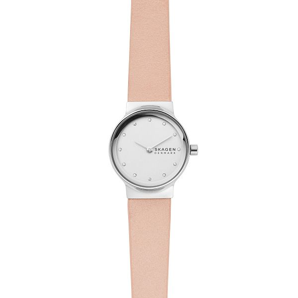 Skagen Freja Ladies' Pink Leather Strap Watch - Product number 2990776