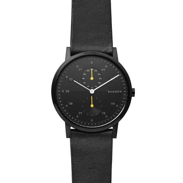 Skagen Kristoffer Men's Black Leather Strap Watch - Product number 2991292