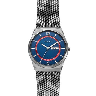 Skagen Melbye Men's Stainless Steel Mesh Bracelet Watch - Product number 2991322