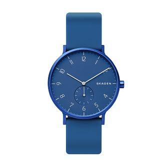 Skagen Aaren Kulor Blue Silicone Strap Watch - Product number 2991330