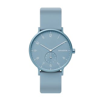 Skagen Aaren Kulor Sky Blue Silicone Strap Watch - Product number 2992450