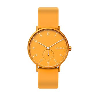 Skagen Aaren Kulor Yellow Silicone Strap Watch - Product number 2992469