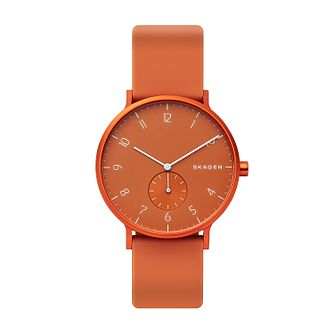 Skagen Aaren Kulor Orange Silicone Strap Watch - Product number 2993023