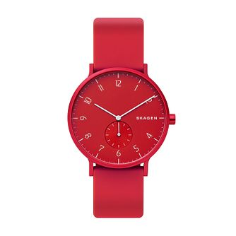 Skagen Aaren Kulor Red Silicone Strap Watch - Product number 2993066