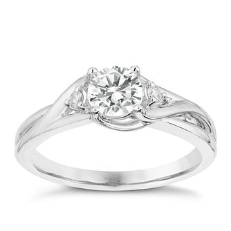 Platinum Twist 0.54 Carat Forever Diamond Ring - Product number 2998971