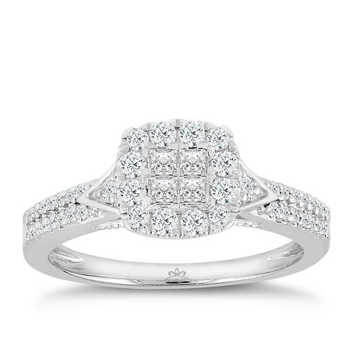 Princessa 9ct White Gold 1/2ct Diamond Ring - Product number 3002535