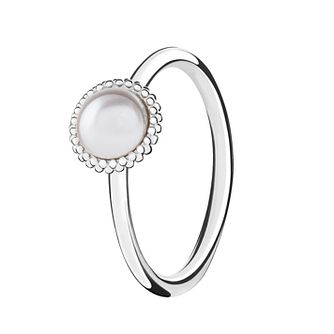 Chamilia Silver Wisdom Swarovski Pearl Stacking Ring Large - Product number 3029646
