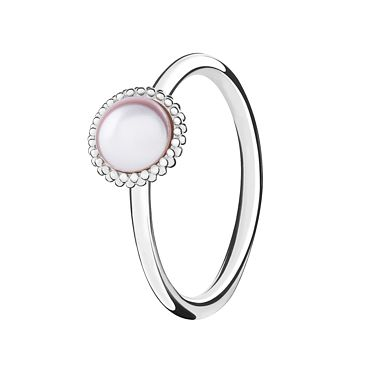 Chamilia Silver Wisdom Swarovski Pearl Stacking Ring Large - Product number 3029697