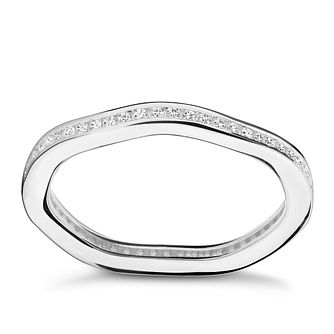 Chamilia Tranquillity Swarovski Zirconia Stacking Ring Large - Product number 3029867