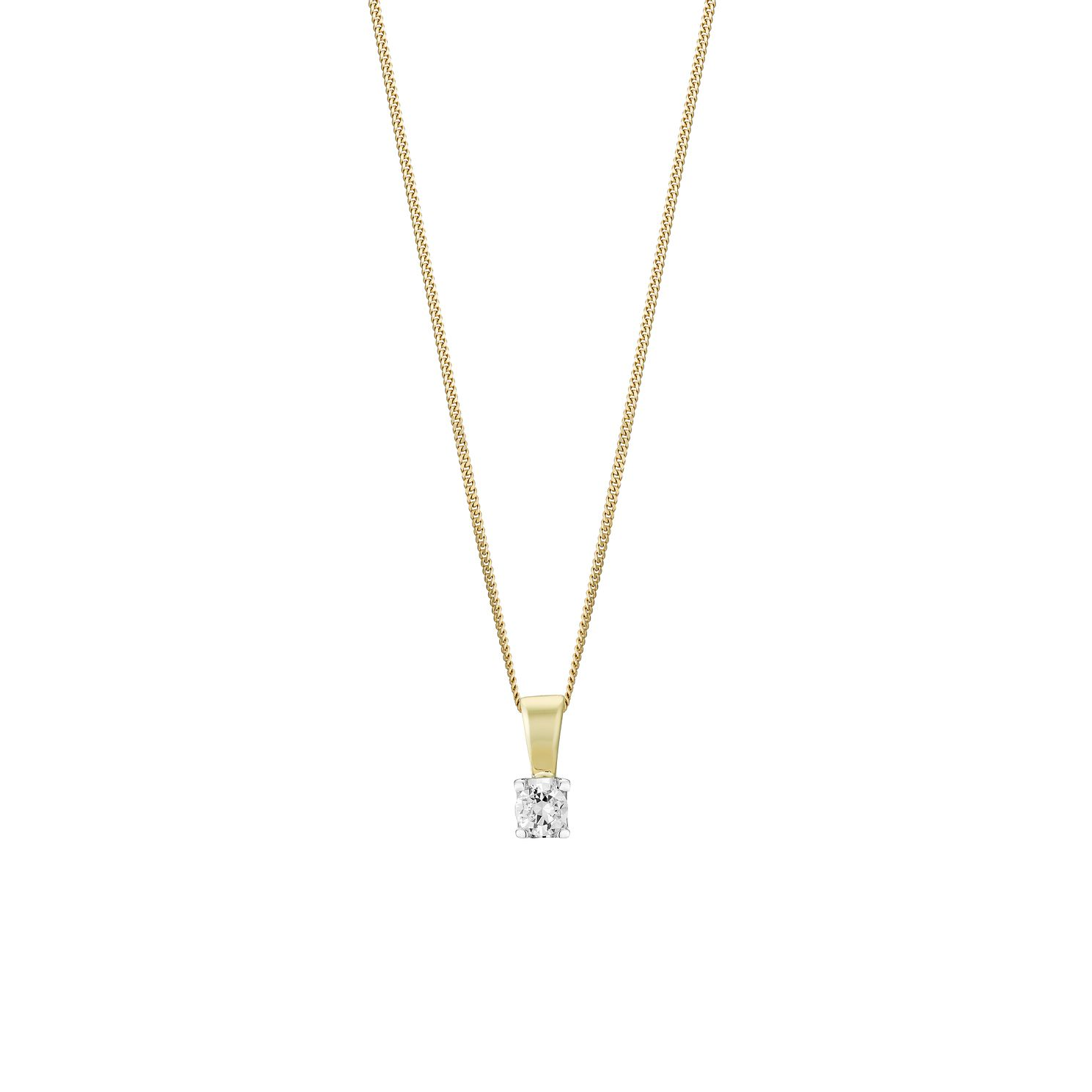 18ct Gold 1/4 Carat Forever Diamond Pendant - Product number 3030288