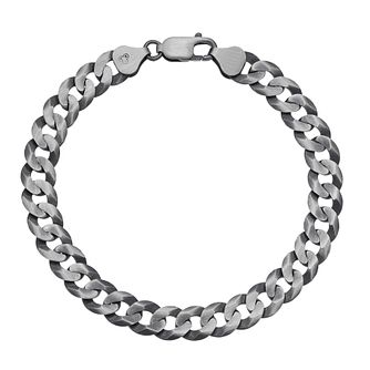 "Men's Silver 8"" Curb Chain Bracelet - Product number 3032930"
