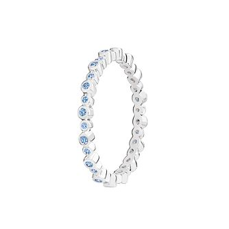 Chamilia Infinity blue Swarovski zirconia ring medium - Product number 3033058