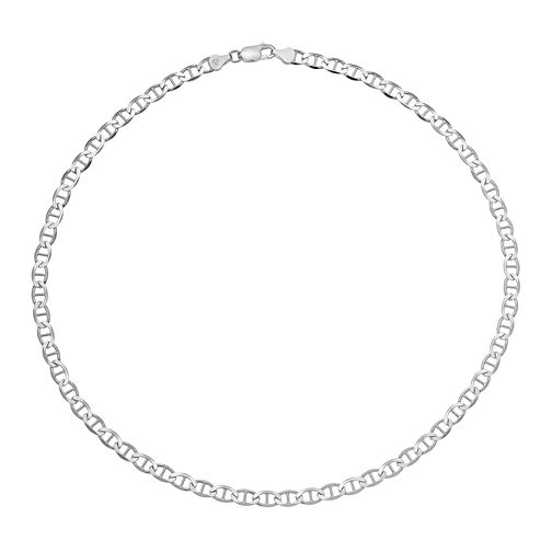 "Men's Silver 20"" Anchor Chain Necklace - Product number 3033066"