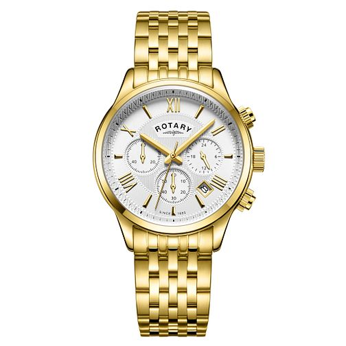 Rotary Men's Chronograph Gold Plated Bracelet Watch - Product number 3034690