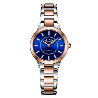 Rotary Kensington Ladies' Blue Dial Two Tone Bracelet Watch - Product number 3035875