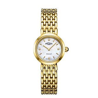 Rotary Balmoral Ladies' Yellow Gold Tone Bracelet Watch - Product number 3036928