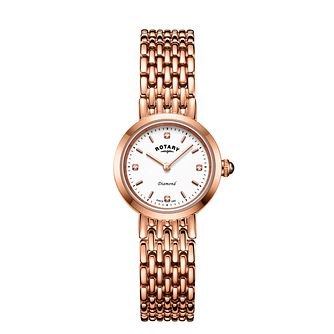 Rotary Balmoral Ladies' Rose Gold Tone Bracelet Watch - Product number 3036936