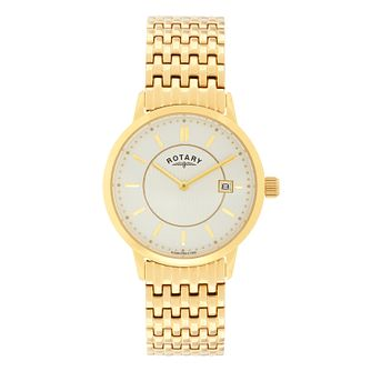 Rotary Men's Yellow Gold Plated Bracelet Watch - Product number 3038491