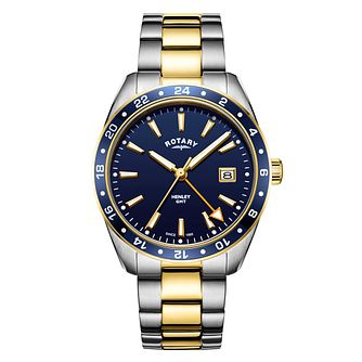 Rotary Henley Men's Two Tone Bracelet Watch - Product number 3038580
