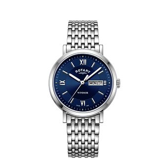 Rotary Windsor Men's Stainless Steel Bracelet Watch - Product number 3040607