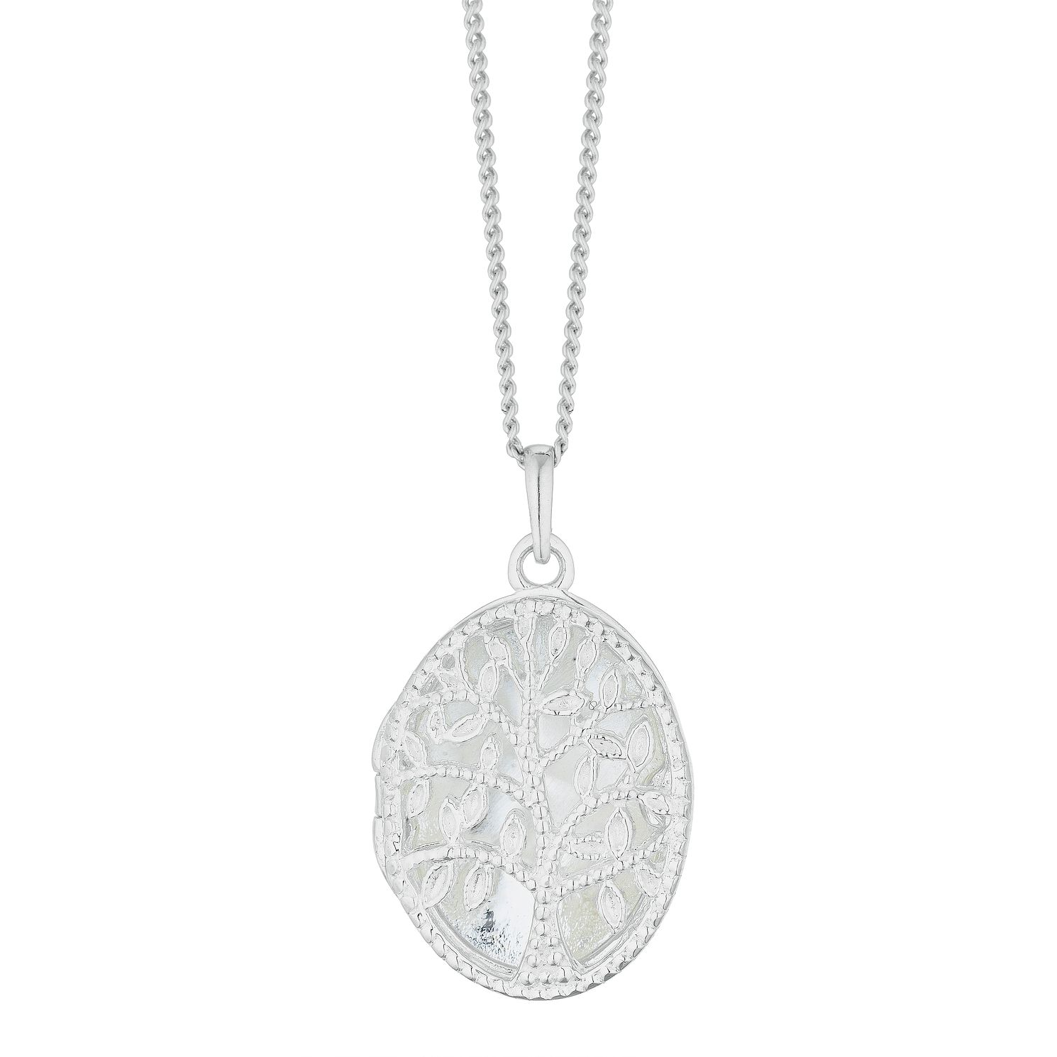 Silver Filigree Tree Of Life Oval Locket - Product number 3043061