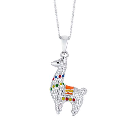 Silver Multicoloured Llama Pendant - Product number 3043169