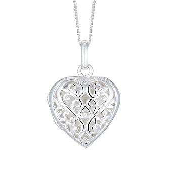 Silver Filigree Heart Locket - Product number 3043193