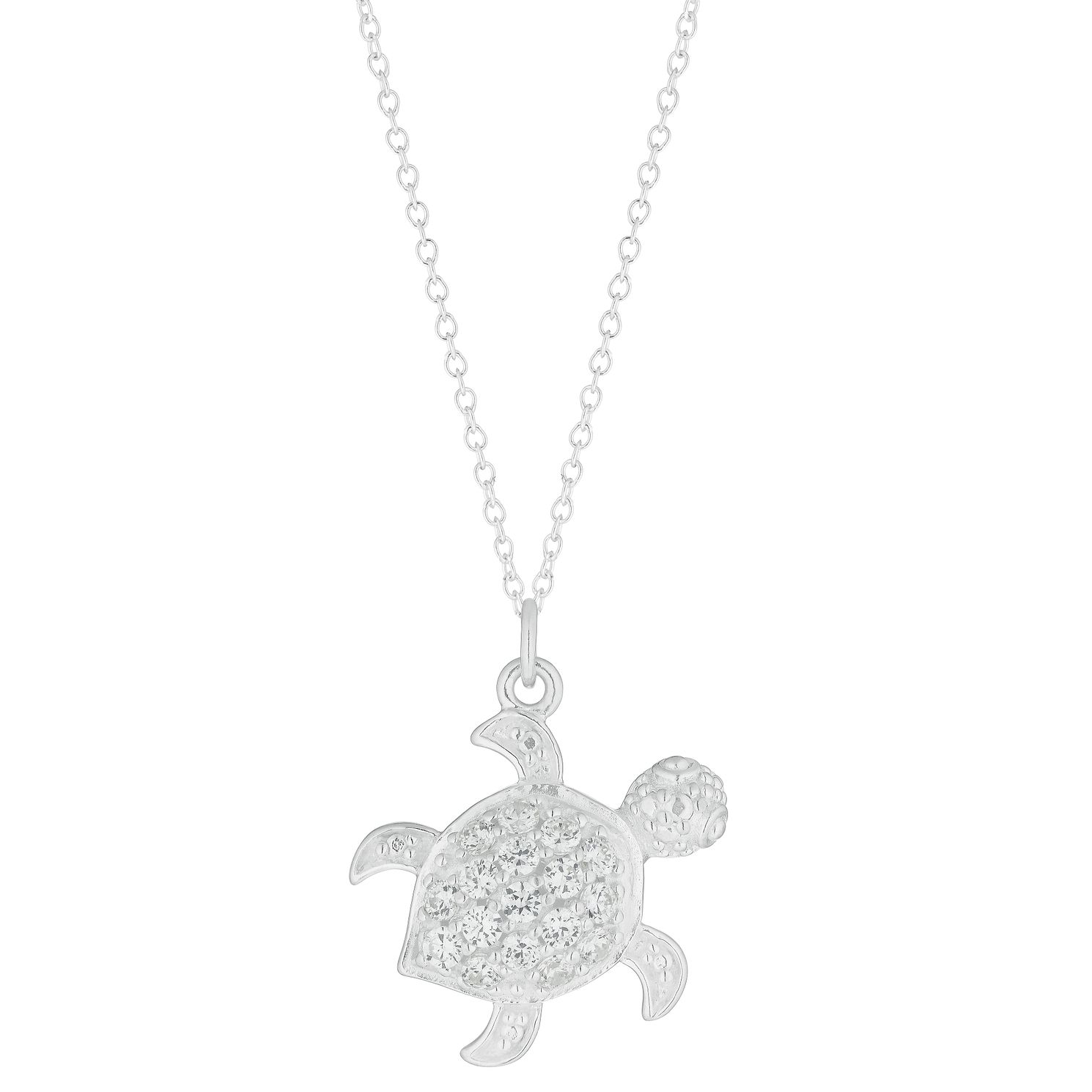 Silver & Zirconia Turtle Pendant - Product number 3043258