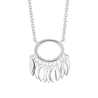 Silver Oval Leaf Dangles Pendant - Product number 3043347