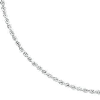 "Silver 24"" Rope Chain Necklace - Product number 3043479"