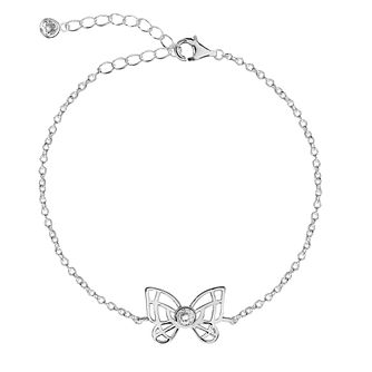 Silver Cubic Zirconia Butterly Anklet - Product number 3043843
